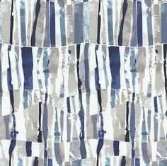 Indigo Blue and Taupe Fabric by the Yard - Modern Navy Teal Light Upholstery Fabric - Custom Navy Blue Teal Taupe Curtains Roman Shades