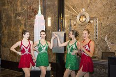 ICYMI: The lit up the skyline with the colors of the last night! Christmas Spectacular, Nyc Skyline, Christmas Outfits, Tap Dance, Opening Night, May 1, Empire State Building, Light Up, Fun Facts