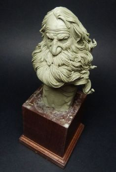 This is my study of an ancient man with long hair and beard. I hope you like him: [IMG] [IMG] [IMG] [IMG] Ceramic Sculpture Figurative, Sculpture Clay, Bronze Sculpture, Traditional Sculptures, 3d Figures, Character Sketches, Portrait Art, Sculpting, Concept Art