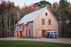 Solar Barn - traditional - Exterior - Portland Maine - Caleb Johnson Architects + Builders