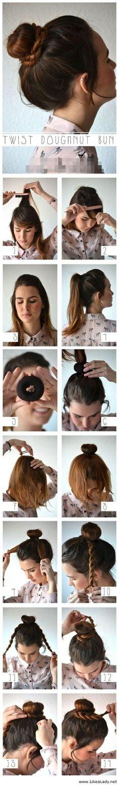 A different way to do a bun
