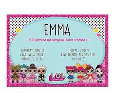 LOL Dolls Birthday Party Digital Invitation
