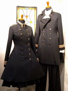I vote this as the Military School Uniform at least on special occasions Maybe a simplified version Mode Steampunk, Steampunk Clothing, Vintage Outfits, Looks Dark, Lolita Mode, Couple Outfits, Kawaii Clothes, Character Outfits, Lolita Dress