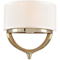 Provide a warmly welcoming atmosphere with the soft lighting of this contemporary two-light wall sconce.