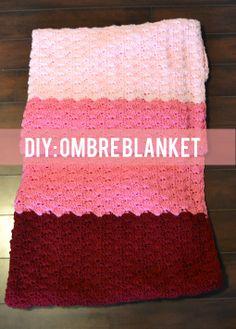 Ombre Crocheted Blanket Tutorial | heatherhomefaker