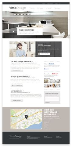 Like the button design in the banner and panel areas | Vima design by Marc-Antoine Roy, via Behance