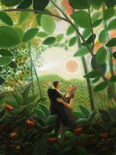 "Acrylic 2009 Painting ""The Serpent"" Christian Images, Adam And Eve, Stock Art, Illustration Art, Illustrations, Saatchi Art, Original Paintings, Canvas, Artists"