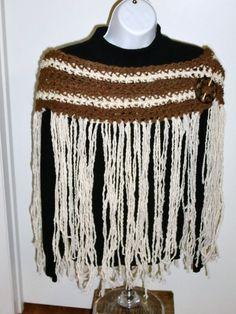 Handspun Alpaca/Wool Poncho/Scarf  Scaoncho by UpcycleFiberArts, $50.00