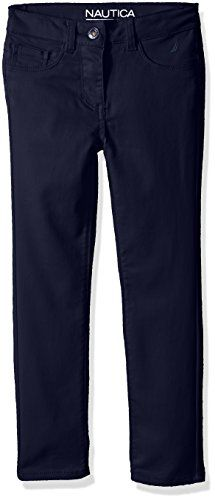 Nautica Little Girls Five Pocket Stretch Sateen Pants Navy 2T ** More info could be found at the image url.(It is Amazon affiliate link) #trendy