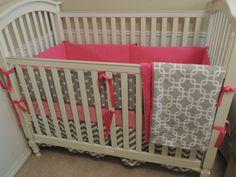 Polka Dot Pink Custom Bumper by babylovin on Etsy, $160.00