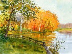 Début de l'automne, la mort de l'amour, l'amour secret de la couleur dorée. Artistes environ automne