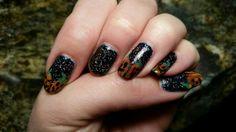 Pumpkin nails art for Halloween