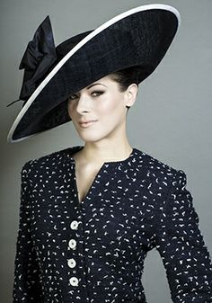 Royal Milliner Rachel Trevor-Morgan -  couture Hats~ I am very partial to this big side sweep style