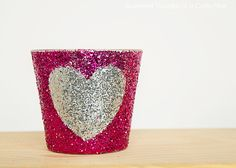 DIY Glitter Heart Candles @ Scattered Thoughts of a Crafty Mom