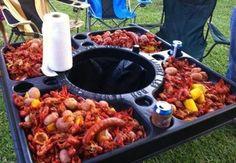 Crawfish table www.servinghouma.com