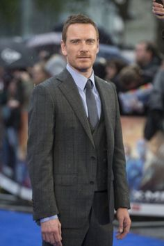 Michael Fassbender at 'X-Men: Days of Future Past' premiere in London (2014)