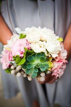 another succulent bouquet