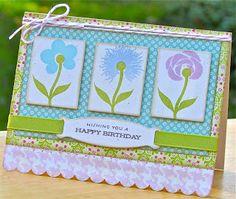 Happy Birthday flower card
