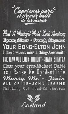 Canciones para el primer baile de los novios