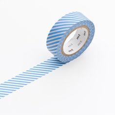 Nastro Masking Tape stripe light blue - Masking Tape - Shop now on lesparigotes.com