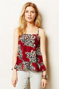 Another beautiful print.  Not sure about camisole cut on me.--------------Zaballa Tank - anthropologie.com