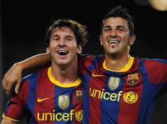 Messi and Villa