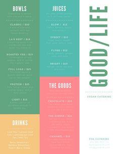 catering menu design templates