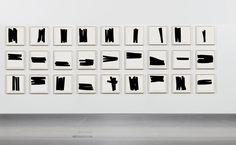 Raimondo Bonamici: Monologo: Inchiostro grasso su carta lucida, 50 x 50 cm, ognuno, 2009 / 2017