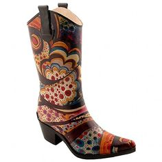 Corkys Rodeo Rain Boots for Women7 BM USMulti -- Check this awesome product by going to the link at the image.(This is an Amazon affiliate link and I receive a commission for the sales)