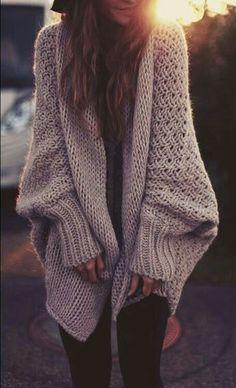 big knit fall sweater