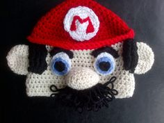 Crochet Mario Hat Inspired by the character by DopteraDesigns, $36.00
