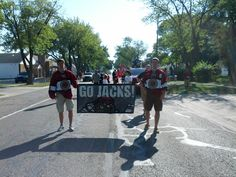 """The Roosevelt Park Parade on Saturday, August 25! Carter Foguth and Frederik Tiffels want to hear a """"Let's Go Jacks!"""""""