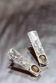aros plata cuarzo citrino by Taller Xalpen