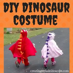 DIY Dinosaur Costume - Cheap and easy sewing project, using fleece to make a dinosaur / dragon cape.  Halloween costume or dress-up clothes, can even make it as a gift for children.