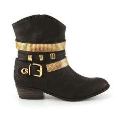 Black and golden anckle boots by Carmen Steffens