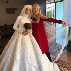 Hijab Wedding: I& out for a few days, take good care of beautiful brides and g . Hijab Wedding: I& out for a few days. Wedding Hijab Styles, Wedding Dressses, Muslim Wedding Dresses, Muslim Brides, Muslim Girls, Bridal Dresses, Wedding Gowns, Flower Girl Dresses, Bridal Hijab