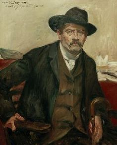 Lovis Corinth (Friedrich Heinrich Louis, German Self Portrait in a Black Hat, 1911 - Artist Painting, Painting & Drawing, Ludwig Meidner, George Grosz, Art Nouveau, Art Database, True Art, Portraits, Paintings