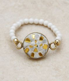 ミクロザ フラワーリング/ stone mosaic ring on ShopStyle