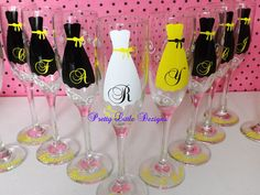 dress goblet glasses for a wedding | ... for a jack and jill shower night out on the town or the wedding