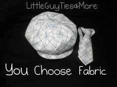 ee8ad17e1ea Newsboy Hat and Long Tie - Baby boy hat- Toddler Hat and Tie- Newsy