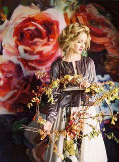 Oversized floral backdrop