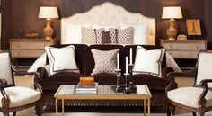 Mr. and Mrs. Howard for Sherrill Furniture-Like the way the sofa & chairs at end of bed