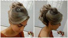 Resultado de imagem para penteado coque despojado