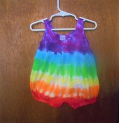 Tie Dye Baby Bubble Romper// 6 month// Baby Clothing// Rainbow