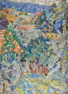 Hanna RUDZKA-CYBISOWA (1897-1988)  Pejzaż z Krościenka akryl, płótno; 130 x 97 cm; sygn. l. d.: H. Rudzka C