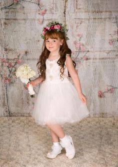 Laci Dress White Ivory Flower Girl Dresses, Cute Young Girl, Boutique Dresses, Special Occasion Dresses, White Dress, Chiffon, Princess, Children, Wedding Dresses
