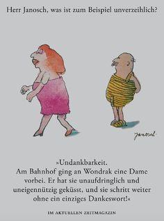 Herr #Janosch, was ist zum Beispiel unverzeihlich?