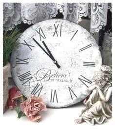 Diy ovale wanduhren im shabby und vintage style clocks - Ovale wandregale ...