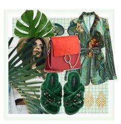 """🌿"" by minaoguz on Polyvore featuring moda, Alberta Ferretti, Dolce&Gabbana, Hueb ve Chloé"