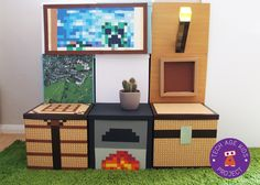 Making Real World Minecraft From IKEA Storage Boxes